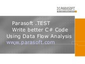 Parasoft .TEST, Write better C# Cod...