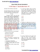 Download IAS PRE 2013 - CSAT Paper ...