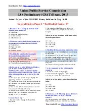 Download IAS PRE 2013 - GS Paper wi...