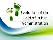 Evolution of Public Administration