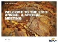2013 Annual Shareholders' Meeting