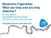 E-Cigarette Summit Speaker: Dr Lynn...