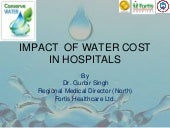 Impact of water cost in hospitals by D  Gurbir Singh