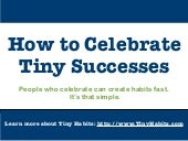 Dr. BJ Fogg -  Ways to Celebrate Tiny Successes