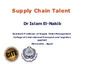 Dr. Islam El Nakib - supply chain t...