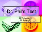 Dr. Phils Personality Test [Amazing]