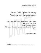 Draft NIST 7628 on CyberSecurity