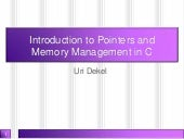 Introduction to pointers and memory...
