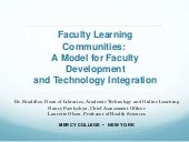 Faculty Learning Communities: A Mod...