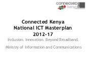 Draft Kenya national ICT Masterplan...