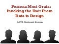 Persona Most Grata: Invoking the User From Data to Design