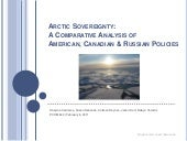 Arctic Sovereignty: A Comparative A...