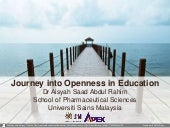 Journey Into Openness in Education