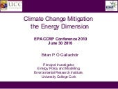 Mitigation - The Energy Dimension -...