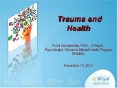WOMEN IN MIND: Trauma and Health
