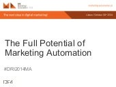 The Full Potential of Marketing Automation