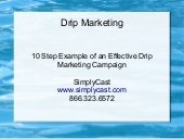 10 Step Example of an Effective Drip Marketing Campaign