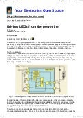 Driving LEDs From The Powerline