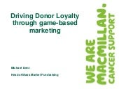 Driving donor loyalty through game ...
