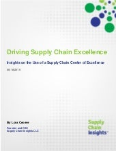 Driving Supply Chain Excellence Report -18 June 2015