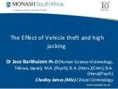 The Effect of Vehicle theft and hij...