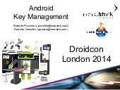Android Key Management @Droidcon London 2014
