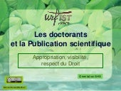 Doctorants et publication scientifi...