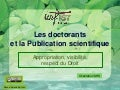 Les Doctorants et la publication scientifique SHS: appropriation, visibilité, respect du Droit