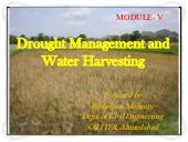 Drought management and water harves...