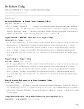Dr robert craig Resume 2015