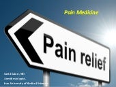 Pain Management (General concepts a...