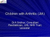 Dr shridhar jia children and young ...