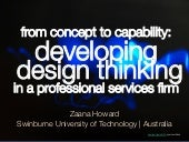 from concept to capability: develop...