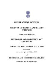 Drugs&cosmetic act (India)