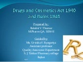 Drugs & cosmetics act 1940