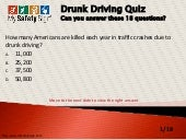 Drunk driving quiz