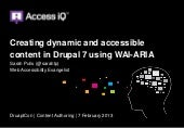 Creating dynamic and accessible content in Drupal 7 using WAI-ARIA