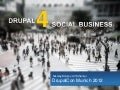Social Business with Drupal  @DrupalCon 2012