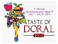 Doral Restaurant Week Sponsorship Packages