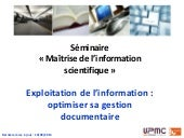 Doctorat sciences - Exploitation de...