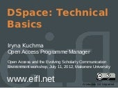 DSpace: Technical Basics