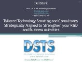 Tailored Technology Scouting and Consultancy