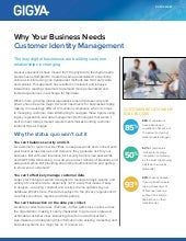 Data Sheet: Why Your Business Needs Customer Identity Management