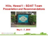 SDAT Presentation for Downtown Hilo