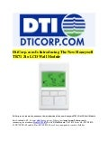 DtiCorp.com Is Introducing The New Honeywell TR71 Zio LCD Wall Module