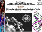 PG Diploma in Bioinformatics / Chem...