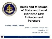 Mike Smith- Roles and Missions of MLE