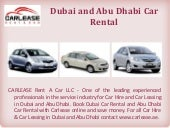 Dubai and Abu Dhabi Car Rental