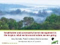 Smallholder and community forest management in the tropics: what we know and where we are going
