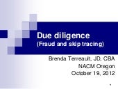 Due diligence internet 19 oct 2012
